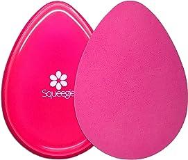 The Original Squeegie Blender   Make-up Silikon und Kosmetik Schwamm in 1 Beauty Produkt   Geschmeidig, Zart und Foundation-Smart   Hot Pink