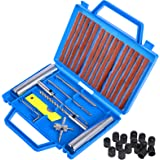 Faburo 32PCS Kit de Réparation de Pneu, Kit de Reparation avec Gants Jetables, Tubeless Roue De Pneu Crevaison Outil De Recti