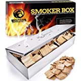 Grill Smoker Box for Wood Chips - Use a Gas or Charcoal BBQ and Still Get That Delicious Smoky Barbecue Flavored Grilled…