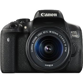 Canon EOS 750D Kit Fotocamera Reflex Digitale da 24 Megapixel con Obiettivo EF-S 18-55 mm IS STM, Nero/Antracite