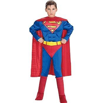 COSTUME SUPERMAN ABITO CARNEVALE CON MUSCOLI MEDIUM 5-7 ANNI