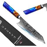Jikko® Couteau de Chef Japonais 33 cm avec Lame en Acier Damas 67 Couches - Modèle Original - Couteau de Cuisine Professionne