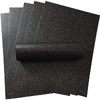 Lot de 10 feuilles de papier A4 noir anthracite brillant avec paillettes irisées 120 g/m² pour loisirs créatifs…