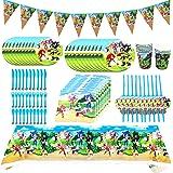 Forniture per Feste di Compleanno, 92 Pezzi Sonic The Hedgehog Party Supplies Set Decorazione per Feste di Compleanno Party P