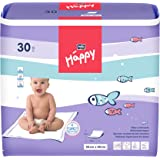 bella baby Happy Wickelunterlagen 60 x 60 cm, 2er Pack (2 x 30 Stück)