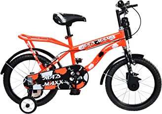 MAD MAXX Humber 16 Inches Neon Red Single Speed Road Kids Cycle for 4 to 6 Years Child