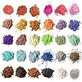Mica-poeder 30 kleuren (5 g / 0,18 oz, totaal 150 g / 5,3 oz), MENNYO natuurlijke pigmenten Glitter epoxyharsverf voor zeep m