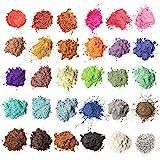 MENNYO Pigmenti Coloranti Naturale, 5g*30 Colori Mica Polvere Colorante per Sapone, Slime, Resina Epossidica, Candele, Bomba