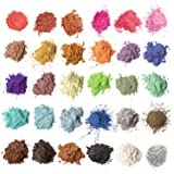 MENNYO Pigmentos para Resina Epoxi, 5g*30 Colores Pigmentos en Polvo, Mica en Polvos para Hacer Slime, Jabón, Pintauñas, Somb