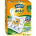 Swirl M40 - Sacchetti per aspirapolvere Miele, Orange, Weiß, confezione da 4