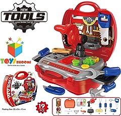 Toys Bhoomi Kids Bring Along Junior Builder Tools Suitcase (Multicolour) - Set of 19