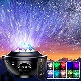 Projecteur Ciel Etoile, Qxmcov Projecteur LED Étoile, Projecteur de Veilleuse Rotatif avec 21 Modes & Télécommande & Timer &