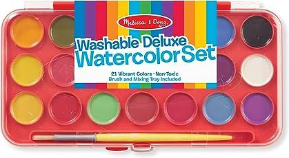 Melissa Doug 4120 Deluxe Watercolor Paint Set 21 ColorsMulti Color