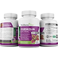 PURE FORSKOLIN EXTRACT 90 Day Supply 20% Standardized Yielding 50mg Active Coleus Forskohlii Root Extract...