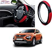 Auto Pearl Ring Type Car Steering Wheel Cover (Ultimate Black Red) for - Harrier 2019