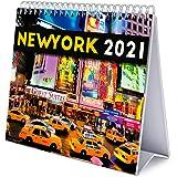 Grupo Erik CS21011 Calendario da Tavolo 2021 New York, calendario da scrivania 2021, 20x18 cm