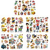 Qemsele Tatuajes Temporales Para Niños Niñas, 200+ Pcs 10 Sheets Superhéroe Dibujos animados Tatuaje Falso Pegatinas Para Niñ