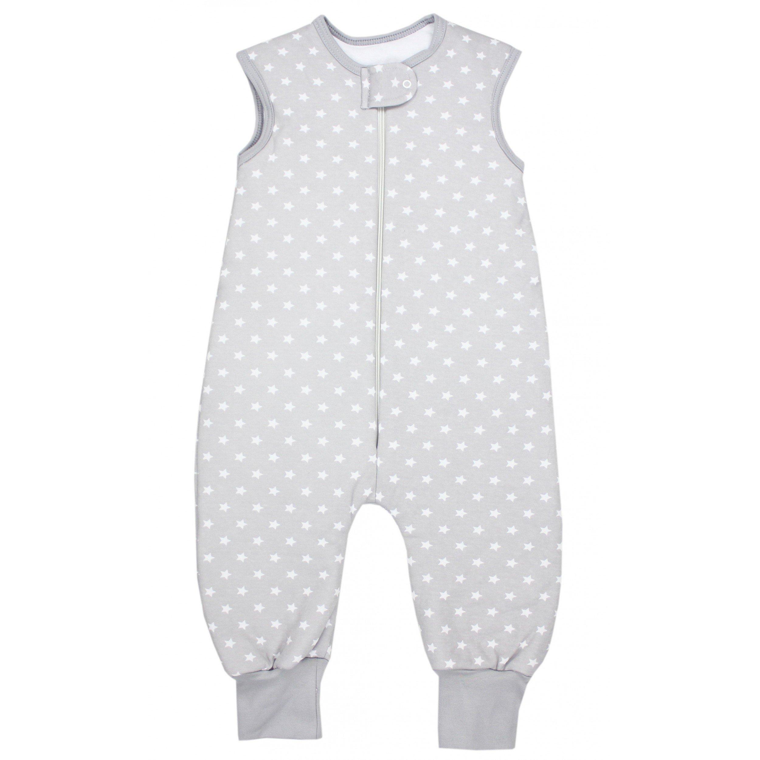TupTam Unisex Baby Winter Schlafsack Mit Beinen, Farbe: Sternchen Grau/Weiß,  Gr
