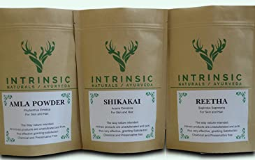 Intrinsic Amla Reetha Shikakai Powder - 210g