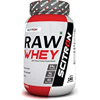 Scitron Raw Whey (100% Whey Protein Concentrate,24g Protein, 0g Sugar, 33 Servings,9 Essential Amino Acids, No Flavours & Preservatives) - 2.2 lbs (1 kg)