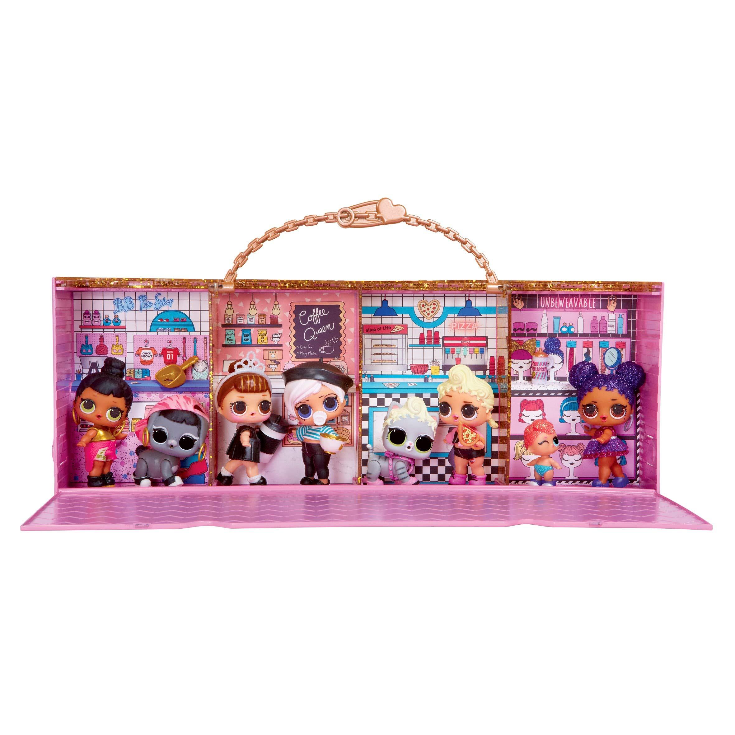 L.O.L Décor et Estrade 3-en-1 pour Mini Poupée MGA Entertainment 552314 Surprise! – Pop-Up Store – Valise