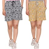 Cotton Comfortable Barmuda/Shorts for Sports, Yoga, Daily Use Gym, Night Wear, Casual Wear for Women - Combo Offer Pack, Set