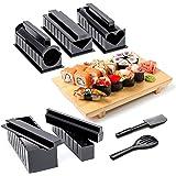 Oak & Steel 11 Pièces Kit Sushi Maker - sans BPA, Facile à Nettoyer & à Utiliser