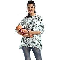 AV2 Printed Womens Maternity Feeding Short Kurti