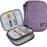 ProCase Trousse Double (Pas d'Accessoires Inclus) pour Accessoires et Outils de Crochet, Petit Sac pour Crochet Aiguille Tric