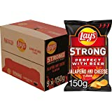 Lay's Strong Chips Jalapeno & Cheese, Doos 9 stuks x 150 g