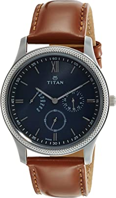 Titan Classique Retrogrades Analog Blue Dial Men's Watch NM1768SL03/NN1768SL03