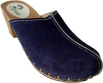 GreenPyrus 0171 Zoccoli Sabot Pantofole Scarpe Pelle Scamosciata, Donna