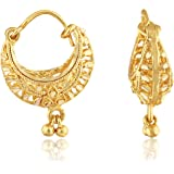 VFJ VIGHNAHARTA FASHION JEWELLERY Traditional Bucket Bali Alloy Gold and Micron Plated Earring for Women, Gold, Yellow