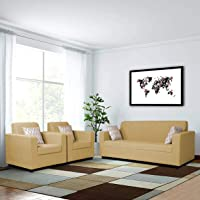 Adorn India Rio Highback 3-1-1 5 Seater Sofa Set (Beige)