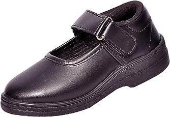 Lakhani Girls Velcroo Black School Shoe