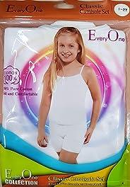 Girls White Camsiole and short, Girls White Underwear Set