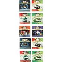 JaipurCrafts Al-Awwab Assorted Herbal (100% Nicotine and Tobacco Free) Hookah Flavors (Pack of 10)