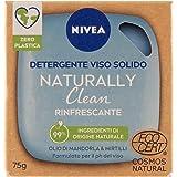 NIVEA Naturally Clean gezichtsreiniger, stevig, verfrissend, met amandelolie en cranberry, gecertificeerd Cosmos Natural, 75