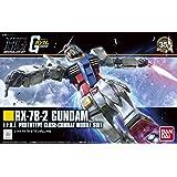 Bandai - Maquette Gunpla - Gundam - 1/144 HGUC RX-78-2 Gundam - Robot à Construire - MK57403/5057403 BAS5057403
