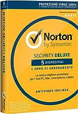 Norton Security Deluxe Antivirus Software 2018 | Protezione Antivirus per 5 Dispositivi (Licenza di 1 anno) | Compatibile con Mac, Windows, iOS e Android