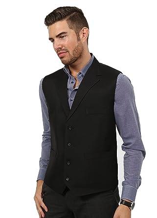 Mens black dress waistcoat