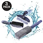 AutoEC Car Wheel Cleaning Brush Kit, 2 Tire Rim Scrub Brush Soft Alloy Brush Cleaner, 1 Premium Metal-Free Wheel & Rim...