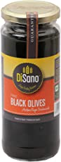 Disano Pitted Black Olives, 470g