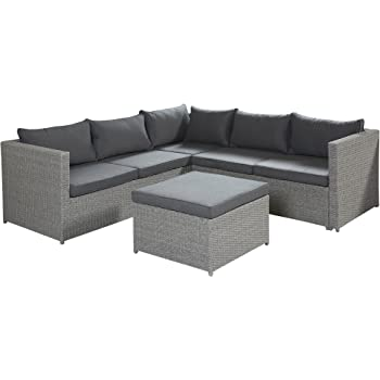 poly rattan sofa lounge set malta grau gartenm bel set terrassen outdoor sitzgruppe. Black Bedroom Furniture Sets. Home Design Ideas