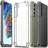 Ferilinso Funda para Samsung Galaxy S21 FE 5G [Transparente TPU Silicona Carcasa] [10X Anti-Amarilleo] [Compatible con la Cri