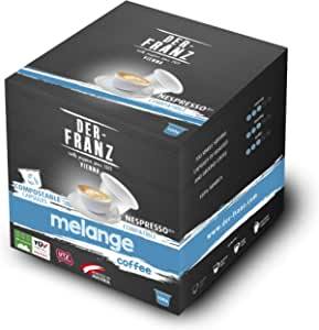 Der Franz, capsule caffè Melange UTZ, compatibili Nespresso, 100% compostabili, 100 capsule