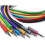 Eurorack Modular Cables de Patch - paquete de 5 cables de conexión mono trenzados de 3,5 mm a 3,5 mm para usar con sintetizad