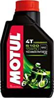 Motul 104080 5100 4T Hybrid 15W-50 API SM Technosynthese Semi Synthetic Engine Oil for Bikes (1 L)