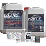 KandyDip Dipon 2K Epoxyhars, 3 kg, glasheldere lamineerhars, UV-stabiel, voor GFK, tafels, vloeren, terra aquarium, vormbouw
