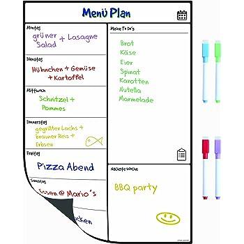 A4 Whiteboard Kühlschrank-Kalender - Nützlicher Menü-Planer, Memo ...